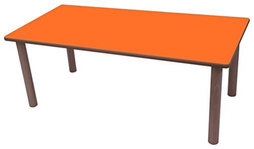 Mobeduc Mesa Infantil Rectangular 120x60 cm, Naranja, 120 x 60 cm, Talla 1