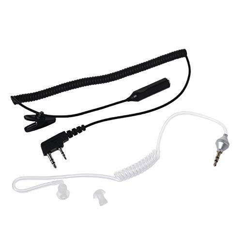 Gfhrisyty Auriculares de micrófono PTT de 2 pines a 3,5 mm de aire acústico tubo auricular para UV-5R 888s