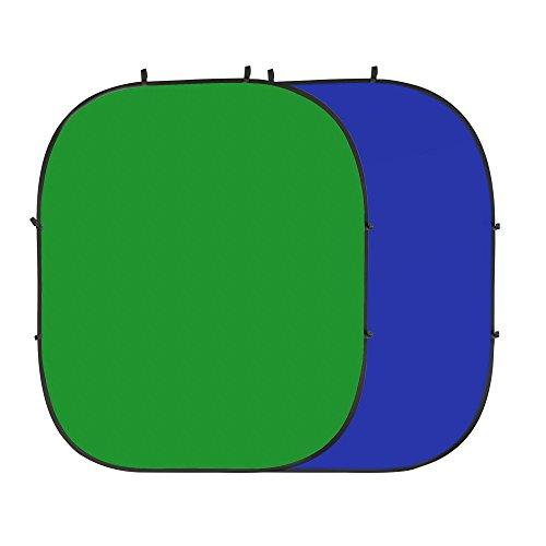 PhotoSEL BD123GU Wendbarer Chroma-Key-Fotohintergrund, Faltbar, Grün/Blau 2m x 2.4m