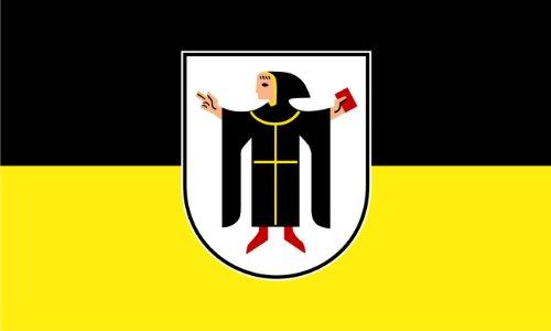 Michael & Rene Pflüger Barmstedt 8,4 x 5,4 cm Autoaufkleber Fahne von München mit Münchner Kindl Aufkleber Sticker fürs Auto Motorrad Handy Laptop