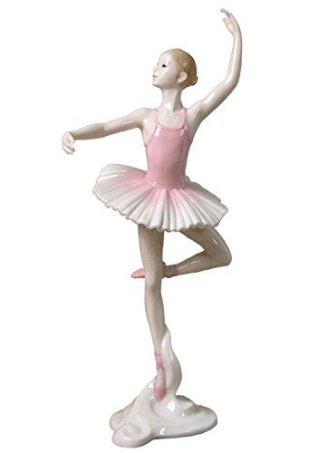 US 26,7 cm Porzellanfigur Ballerina Confidence En L Air Pink Tutu