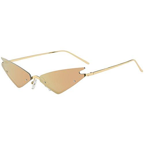 Dorical Trend Sonnenbrille für Unisex/Damen Herren Unregelmäßig Form Brille Metallgestell Brillenfassung Coole Vintage Brillen/Brille Dekobrillen/Valentinstag Brille für Frauen Männer Promo