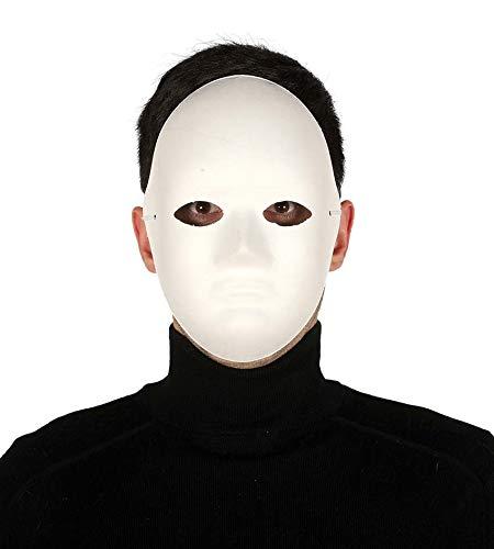 Maschera bianca viso medio in cartapesta