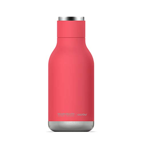 Urban Insulated and Double Walled Stainless Steel Bottle 16 Ounce by Asobu (Peach)