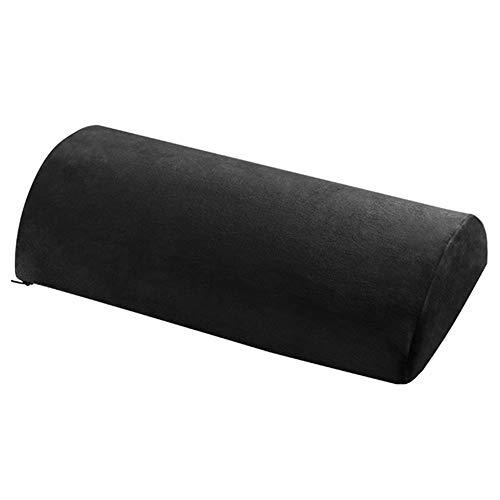 Gmxop Half Moon Nackenrolle Semi-Roll Pillow Knöchelstütze Lendenwirbelsäulen-Nackenschmerzlinderung Memory Foam Pad
