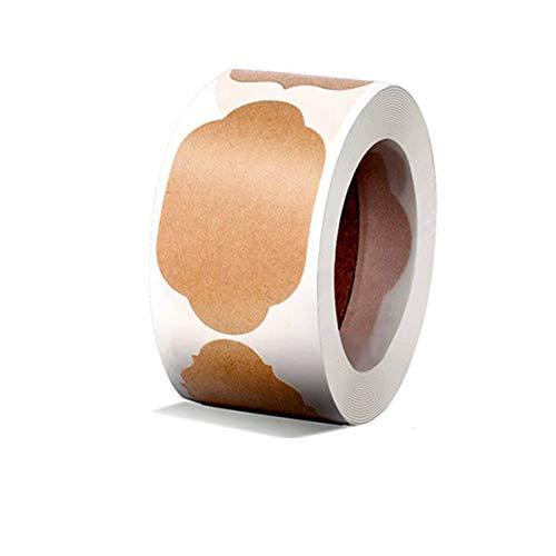 300 pegatinas de papel kraft, pegatinas de papel, autoadhesivas, para alimentos, decoración, botellas, tarros y regalos