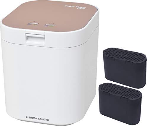 島産業 生ごみ減量乾燥機 パリパリキュー ピンクゴールド&脱臭フィルター 2点セット(PPC-11-PG&PPC-11-AC33)