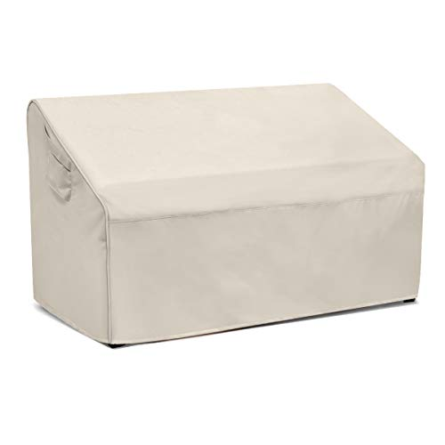Honest Patio Bench Loveseat Cover, 100% Waterproof Outdoor Sofa Cover, Lawn Patio Furniture Covers with Air Vent(60' L x 34' D x 31' H,Beige)