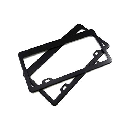 XIAOYING 2pcs Black Tag Cover Holder With Screw Caps Car Styling Stainless Steel Car Auto Vehicles License Plate Frame