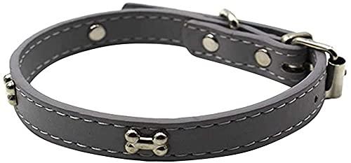 WSYGHP Collier en Cuir PU Collar Collar Collar CollysDog Personnalisé CollarsDog Puppy Puppy Collier pour Chien