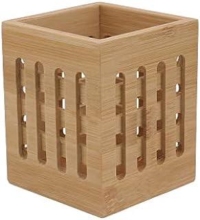 Hemoton Porte-ustensiles en bois pour ustensiles de cuisine - Boîte de rangement pour crayons et pinceaux de maquillage