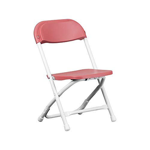 Red Poly Plastic Kids Lightweight Heavy Duty 220-Pound Capacity Stackable Folding Classroom, Event, Banquet, and Wedding Chairs (Red, 4-Pack)
