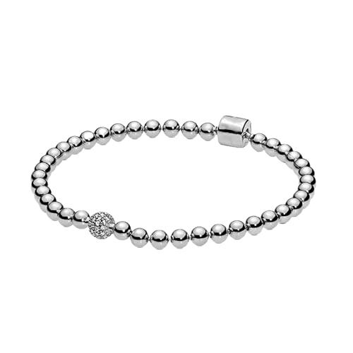 juntao Beads & Pavé Pulseras a mano para mujer, plata de ley 925 para hombre, diseño de fiesta (color de la gema: pulsera de plata 1, longitud: 16 cm)