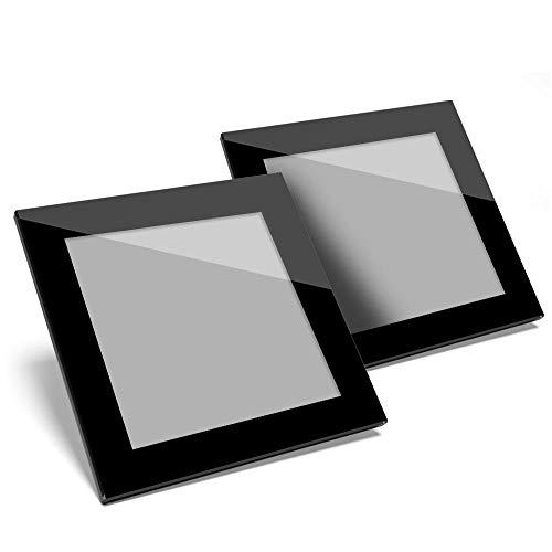 Juego de 2 posavasos de cristal de color negro, 40 gris, de calidad brillante, para cualquier tipo de mesa #44297