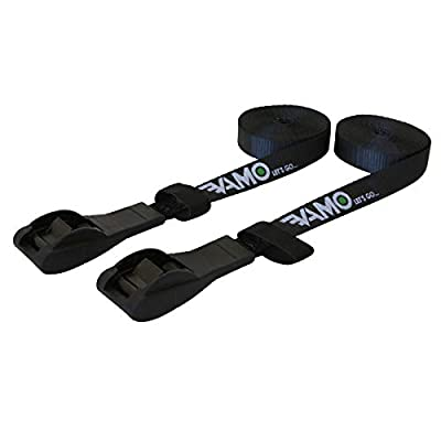 Lashing Straps, VAMO 1 Inch x 15 Ft Tie Down Strap Cargo Tie-Down Strap up to 600lbs for Roof-top Cam Lock Buckle 2 Pack (with storage bag)