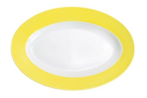 Kahla 573306A70412C plaat, ovaal 32 cm Pronto, citroengeel