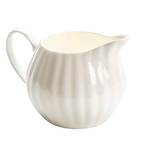 Jarra Leche Taza de leche con boquilla afilada con forma de sandía en forma de sirope de jarabe de leche de cerámica de gran capacidad para salsa de almueta de cocina, utensilios de cocina comedor Jar