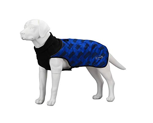 Scruffs Pikowany płaszcz termiczny dla psa, 60 cm, XL, granatowy blok, 360 g