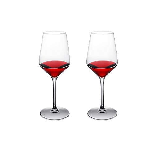 SFF Copas de Vino Copas de Vino Copa Roja de Vino Transparente Exquisito Copa de Vino Conjunto de Ideas para Fiestas de Cumpleaños Y Aniversario de Bodas Cristal (Quantity : 2)