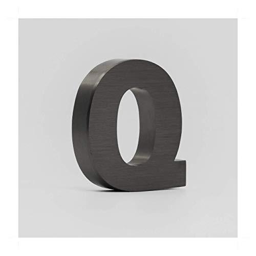Letras Corporeas de 15x20cm con 4cm de grosor de Acero Negro satinado. Personalizado (GANS)