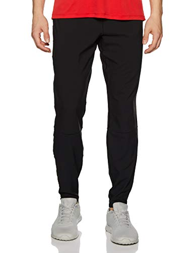 ASICS Men's Tracksuit Bottoms, Black, Grey Trousers, S