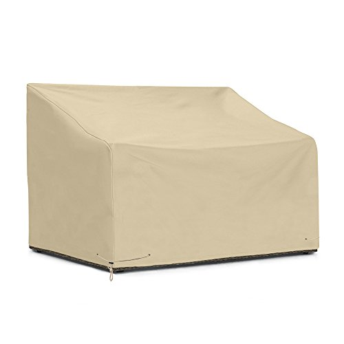 SunPatio Outdoor Large Bench Cover 110 Inch, Patio Veranda Sofa Cover with Waterproof Sealed Seam,...