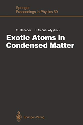 Exotic Atoms in Condensed Matter: Proceedings of the Erice Workshop at the Ettore Majorana Centre for Scientific Culture, Erice, Italy, May 19 - 25, ... Proceedings in Physics (59), Band 59)