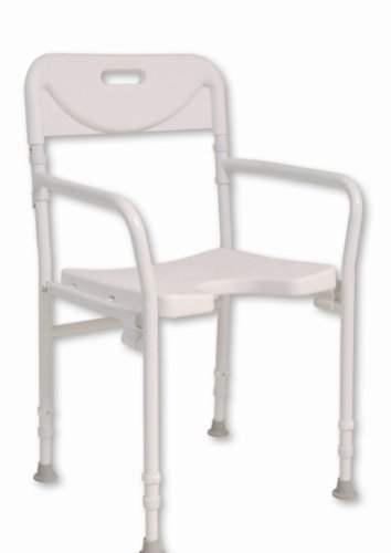 NRS Healthcare M00778 Sedia da Doccia Pieghevole, acciaio