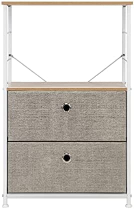 Three Colors Seattle Mall Nightstand 2-Drawer Direct store Storage Shelf Bedside Furniture