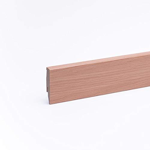 Sockelleiste - Fußleiste 60 x 20 x 2.600mm Dekor Buche gebeizt