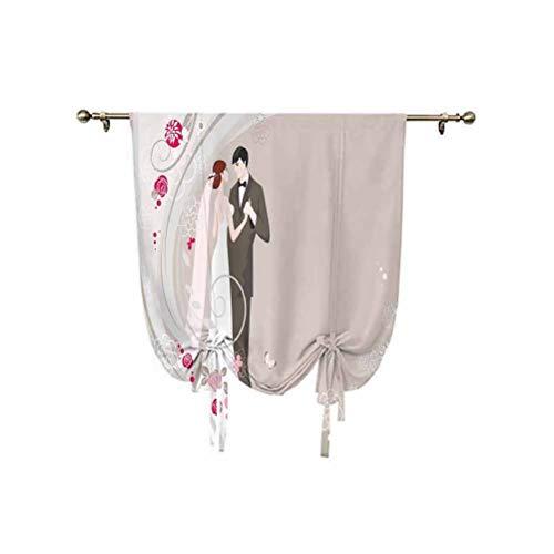 Cortinas opacas para decoración de boda, con aislamiento térmico, 95 x 150 cm, para ventanas del hogar, color gris y negro