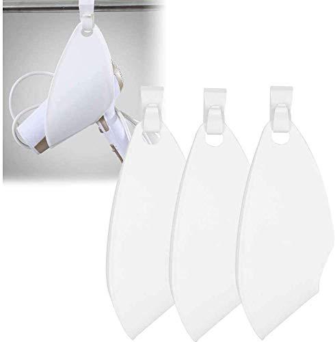 3 soportes para secador de pelo, estante para secador de pelo con gancho para enchufar, secador de baño o soplado para colgar en el hogar, baño, barbería