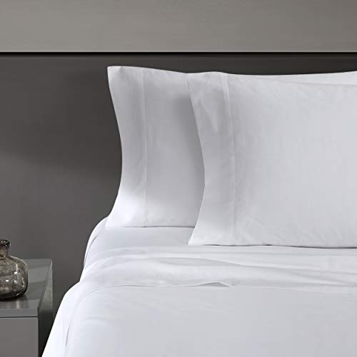 Vera Wang | 800 Collection | Bed Sheet Set - 800 Thread Count, Silky Smooth & Wrinkle-Resistant Bedding, King, White