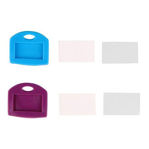 Pawfly キーキャップ タグ 24個 6色 鍵の識別リングカバー ブランクなラベル付き 完璧なコーディング系統