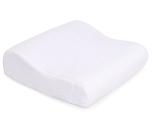 Internet's Best Memory Foam Bath Pillow with Suction Cups - Spa Pillow for Tub - Soft Cover - White