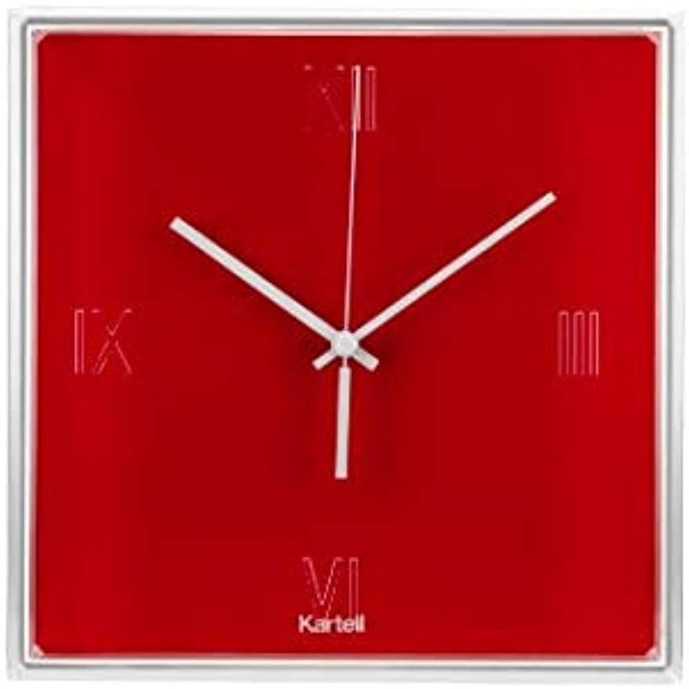 Kartell tic & tac orologio, rosso 0190010