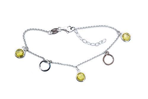 MAGICMOON - Mod.VTP10000281- Elegante bracciale donna argento 925 rodiato con zirconi brillanti color giallo
