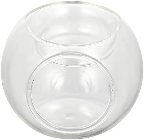 FRCOLOR 1pc mini glazen balvormige kaars stick creatieve sierkaarshouder