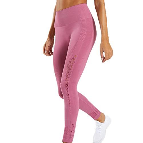 Malloom Femmes Leggings de Sport Chic Slim Fitness Solide Creux Yoga Running Jogging Pantalon