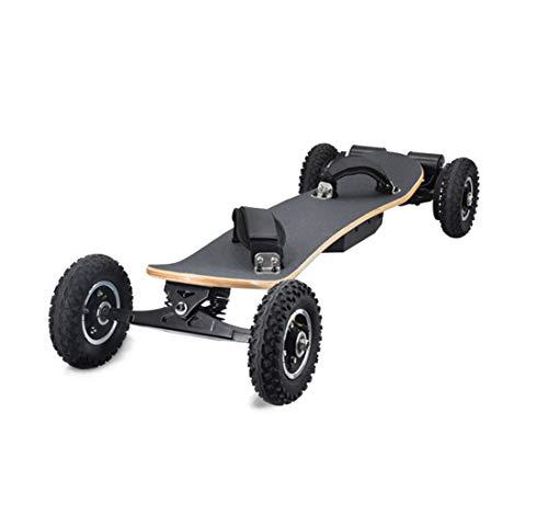 CCDYLQ 40km / H Off Road elektrisches Skateboard, Motor Berg Longboard mit Dual-Motoren mit drahtloser Fernbedienung, 8 Ebenen, All-Terrain, für Kinder Teen