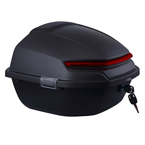 ZZXY Topcase Motorradkoffer - passend für 2 Helme, Top caseuniversal, für Roller, Motorrad, Mofa & Quad