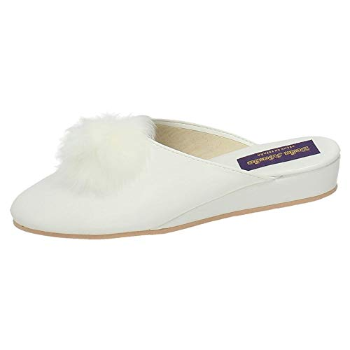 MADE IN SPAIN 15696 Zapato Blanco Mujer Zapatillas CASA Blanco 37