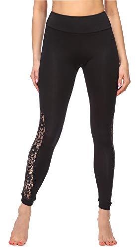 Merry Style Dames Lange Legging met Kant MS10-310