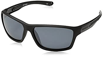 Body Glove Men s FL26 Sunglasses Polarized Wrap Black Rubberized 61 mm