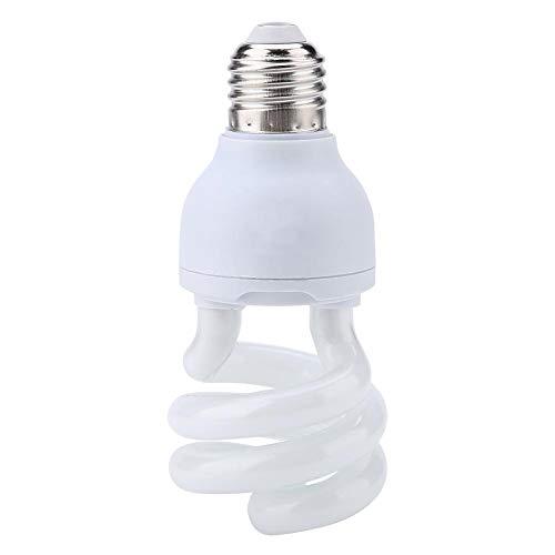 KUIDAMOS Rettile Luce Solare UVB5.0-10.0 Lampada a Lampadina Compatta Lampada Riscaldante per Tartarughe Lucertola 220-240v con Materiale in Vetro di Alta qualità(10W)