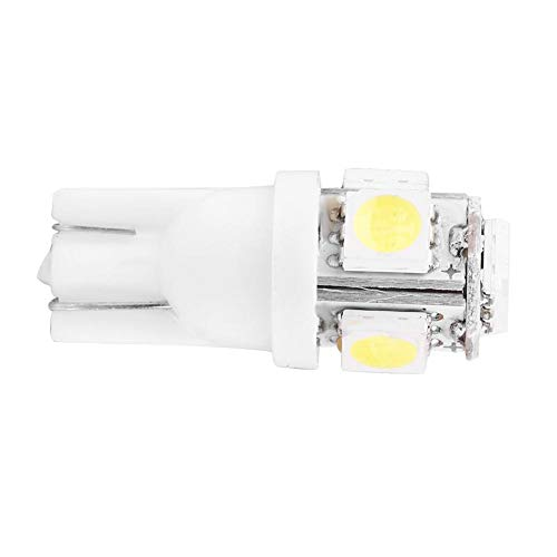Keenso T10 5-SMD Ampoule de Panneau de Commande LED Plaque d'Immatriculation Blanc pour Voitures/Moto 12V 5W