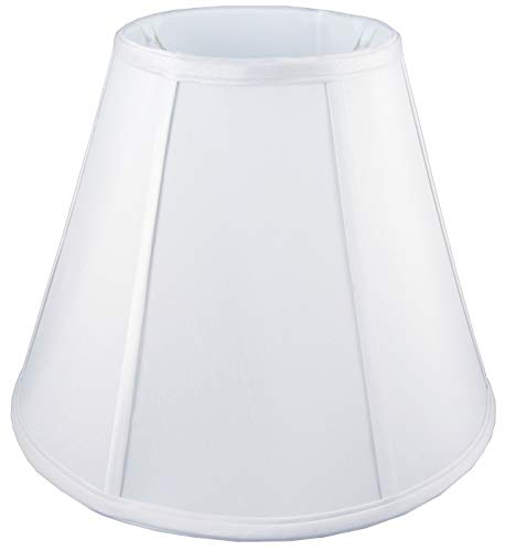 American Pride Soft Shantung Round Tailored Lampshade, 5 x 8 x 7-Inch, White