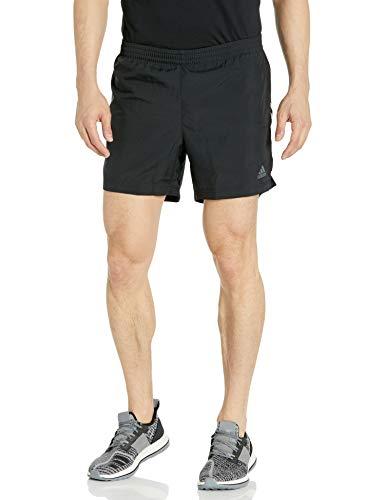 "adidas Men's Run It Short 3-Stripes Black/White Medium 7"""