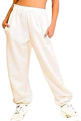 GirlzWalk Damen-Jogginghose, Fleece, Übergröße, Jogginghose Gr. 40, cremefarben
