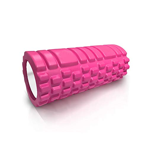 KANGLE-DERI Sports foam roller, yoga roller, used for deep tissue massage of back and leg muscles-relieve muscle soreness and promote blood circulation,Pink